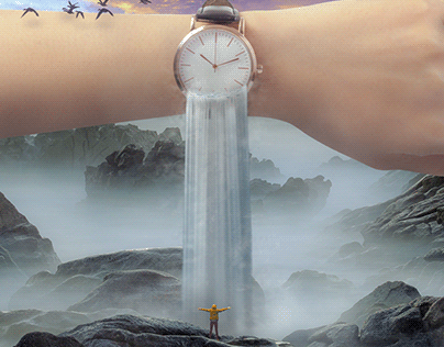"""""""Wasted Time"""" - Photo Composite"""