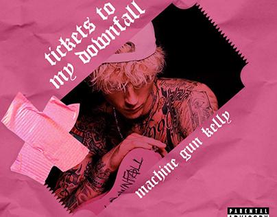"""Reconstrução do album """"tickets to my downfall"""" de MGK"""