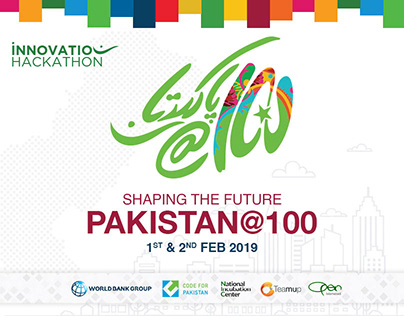 Pakistan@100 Innovation Hackathon Branding & Posters