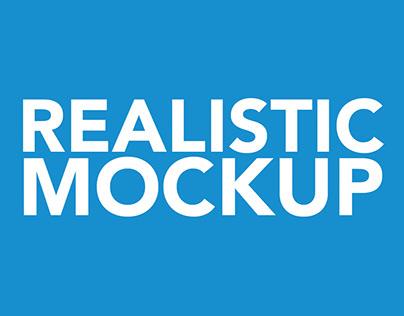 Custom Realistic Mockup Design