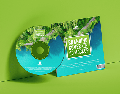 Free Branding Cover With CD Mockup