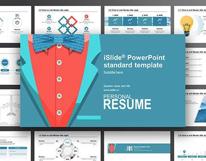 iSlide Eye-catching Presentation Resume Template