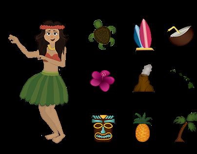 Hawaiian Emojis