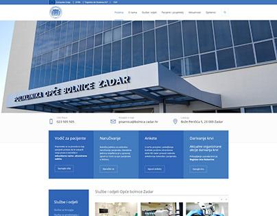 Zadar General Hospital Web Design