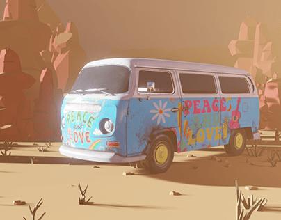 Camper Van 1950 Hippie
