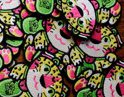 Maneki neko jaguar patch