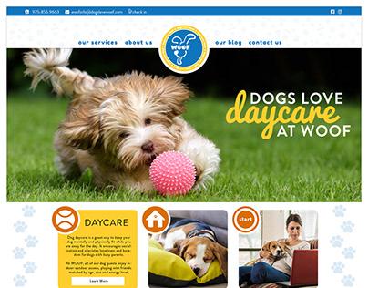 WOOF Doggie Daycare Website Design