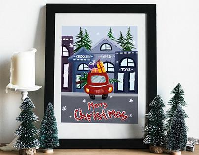 New custom Christmas postcard