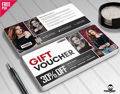 Gift Voucher Design Free PSD