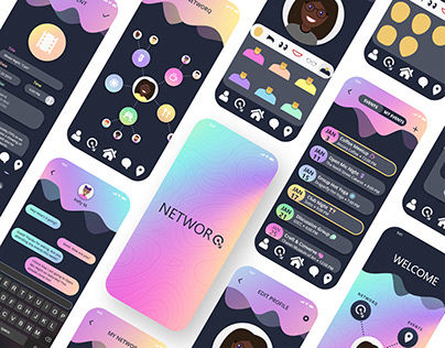 NETWORQ Mobile App Design