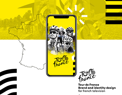 Tour de France - Brand identity for french tv