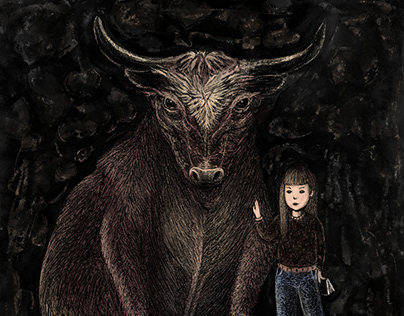 The Bull and the Brave Girl / Toro y niña sin miedo.