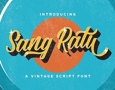 Sang Ratu - Vintage Script Font