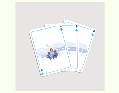 Remote Work Playing Card Illustration