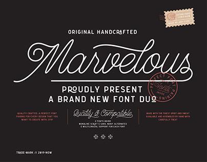 Marvelous Font Duo (Monoline Script & Sans)