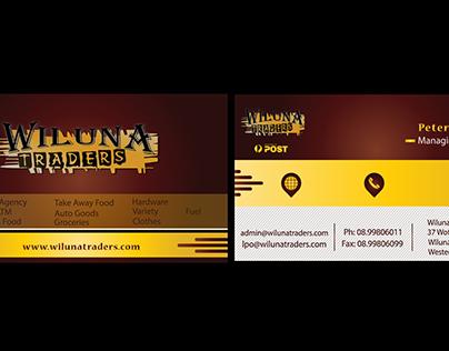 wallnut traders business card