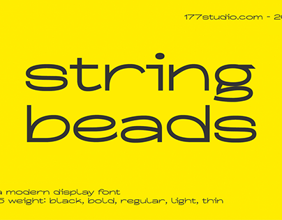 Free Font - String Beads