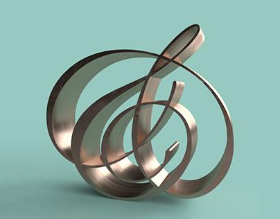 Type Explorations using Adobe Dimension