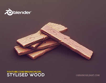 Quick Sculpting Workflow | Blender stylised WOOD PLANKS