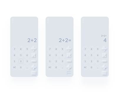 Daily UI Calculator Challenge. DailyUI 004. Neumorphism