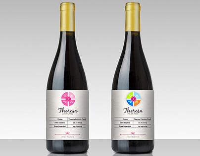 Wine Bottle Sticker