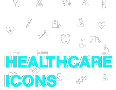 """""""Healthcare"""" Icon Set, Vector"""