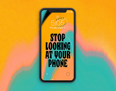 Stop Looking At Your Phone (Lock Screen Wallpaper)
