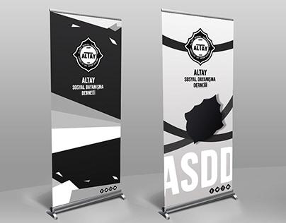 Roll up design for Altay Sosyal Dayanışma Derneği