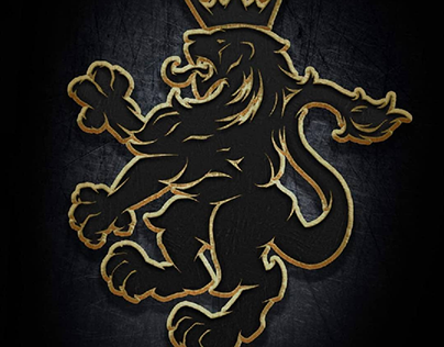 English Lion Crest Logo