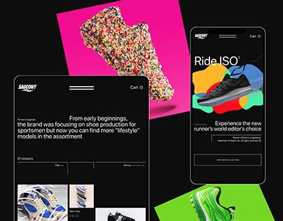 Saucony – e-store redesign