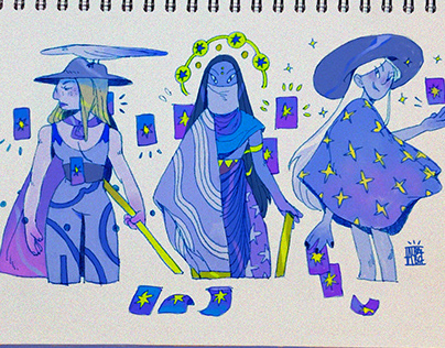 I just found this on my sketchbook 🔮🌙✨