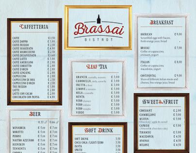 Brassai - Branding & Menu