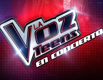Layout para promover el Concierto de La Voz Teens