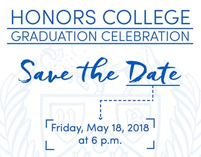 University at Buffalo Honors Graduation Save the Date