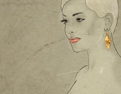 Fashion Illustration - Rita Ora