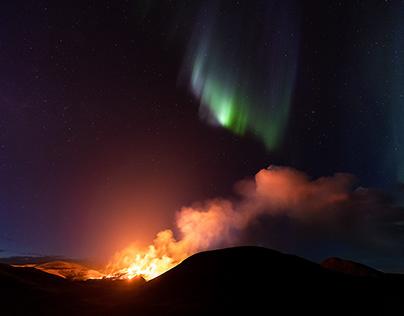 The Shot of a Lifetime - A Volcanic Aurora
