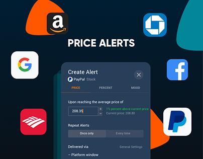 Price Alerts for trading platform