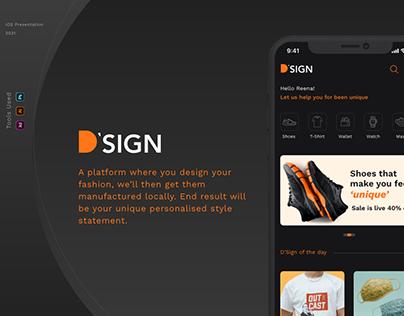 D'Sign - iOS Design Fashion Customisation App