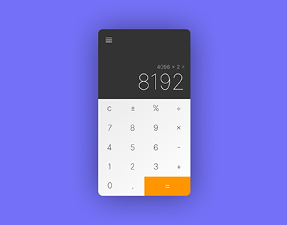 Daily UI. Day 5. Calculator