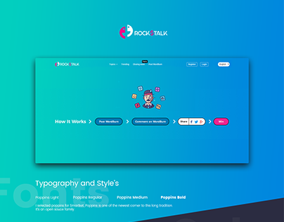 Rockdtalk (UI/UX Design)