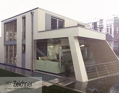 Architekturvisualisierung Einfamilienhaus