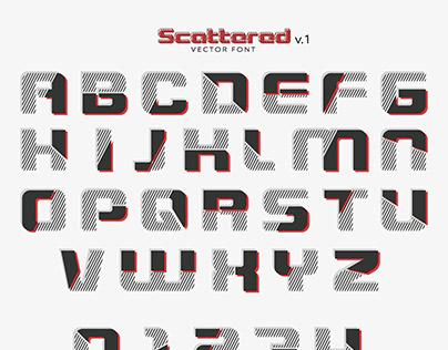 Scattered v.1 - vector font