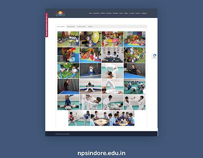 WordPress website design for NPS Indore