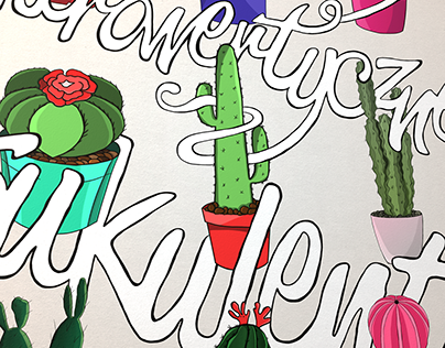 Introverted succulents / poster