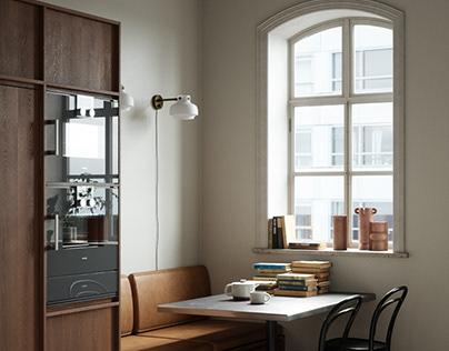 CGI - Small Nordic Kitchen