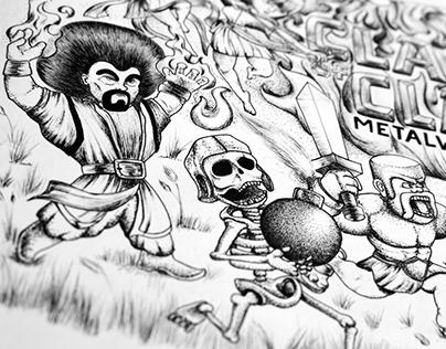Fan Art: Clash of Clans   Metal Warriors