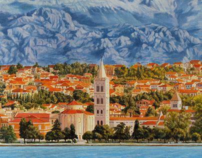 Panoramic view of Zadar