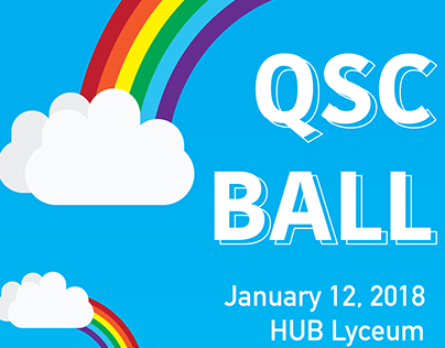 """""""QSC Ball"""" Poster for Queer Student Association"""