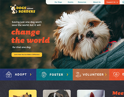 Dogs Without Borders - Website Redesign
