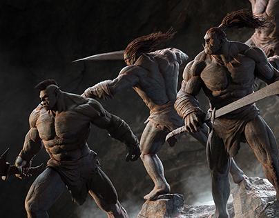 Fight Orcs / 3d / Render